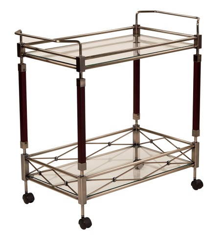 Host a party worthy of the abundance of the art deco era with your very own serving cart. This versatile piece is perfect for home entertaining.