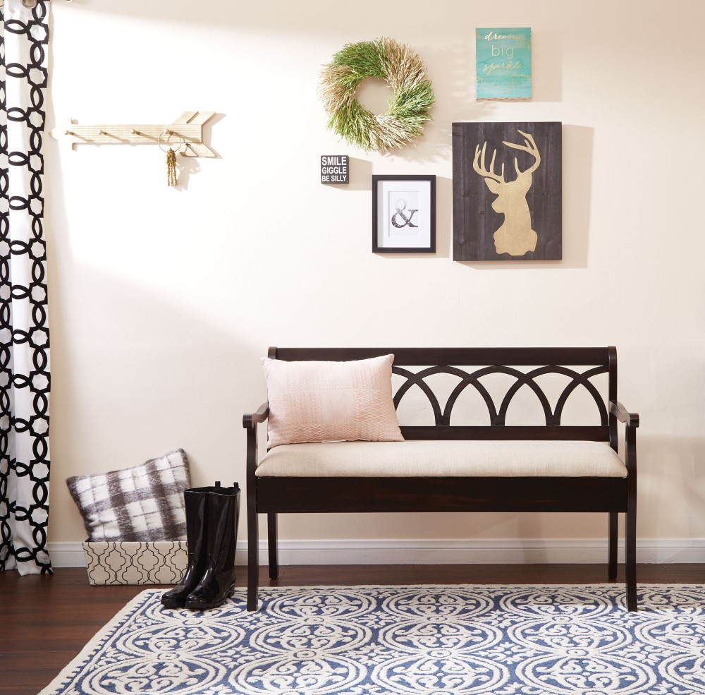 Welcome your guests and set the tone for your cozy farmhouse home with the Coventry storage bench.