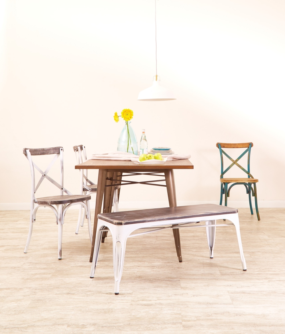 The classic combination of weathered wood & distressed metal is a must have in any shabby chic farmhouse home.