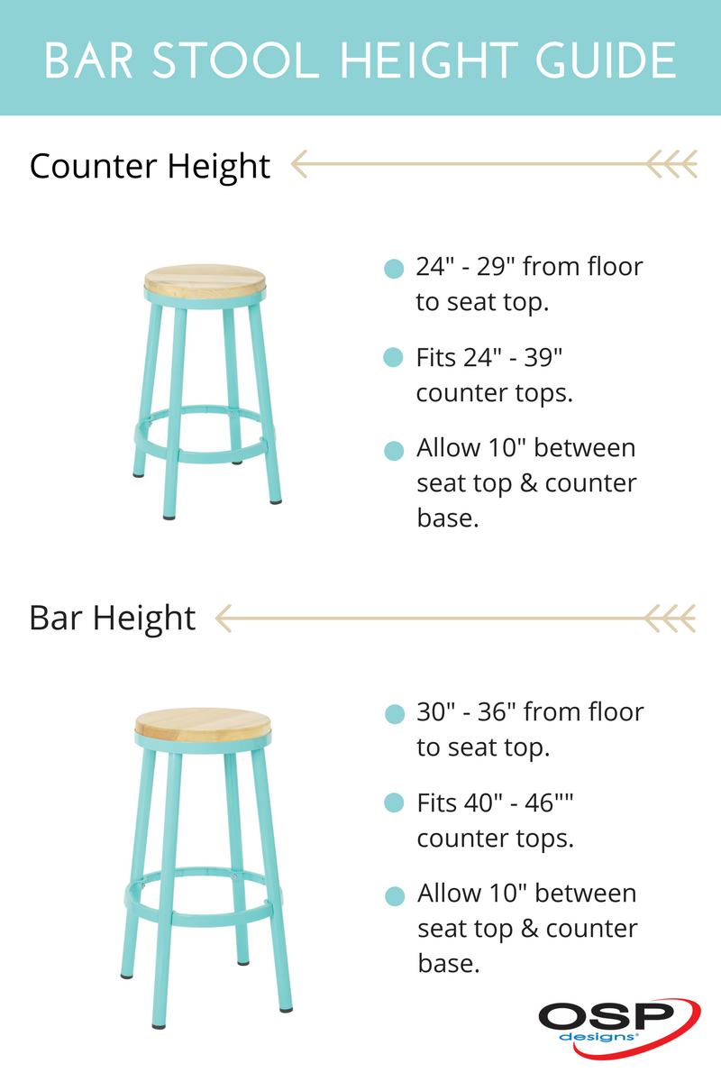 Find the perfect size bar stool for your kitchen with our Bar Stool Height Guide. @officestarprod