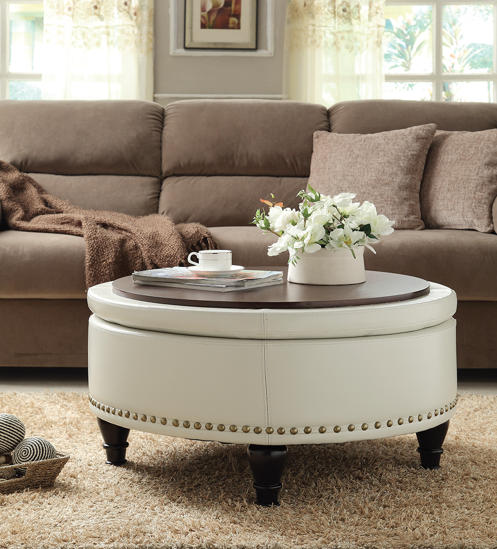 A Sophisticated Option For The Living Room, The Augusta Storage Ottoman Is  An Elegant Addition