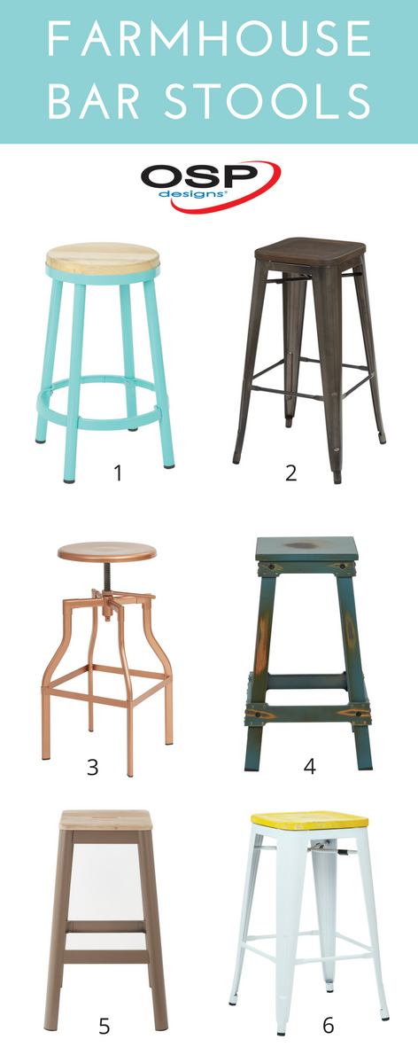 Affordable bar stools for the farmhouse kitchen. @officestarprod