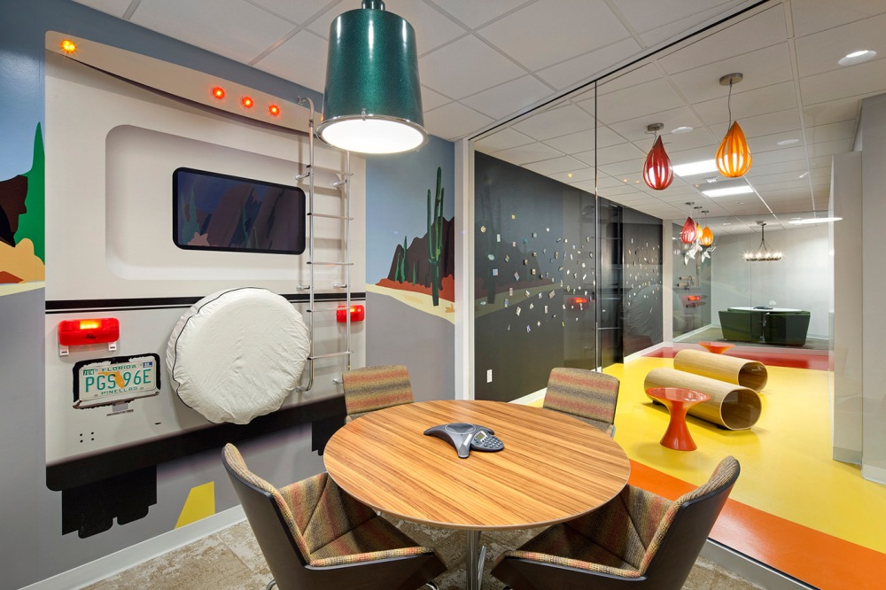 How Work Modes Impact Modern Workplace Design - Part 2: Collaboration - The meeting spaces inside of the Austin, TX headquarters of RetailMeNot feature a variety of fun designs to inspire creativity.