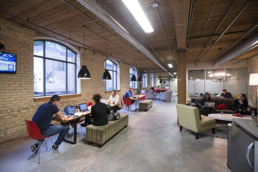 The Rise of Coworking - Workplace One, Wolseley St. is one of 80 coworking space options serving Toronto, Canada.
