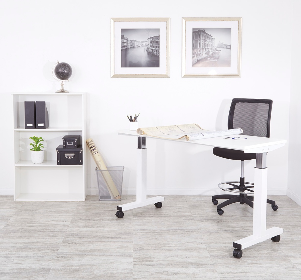 OSP Furniture standing desks offer a much needed break from the tedious task of sitting for an 8 hour work day.
