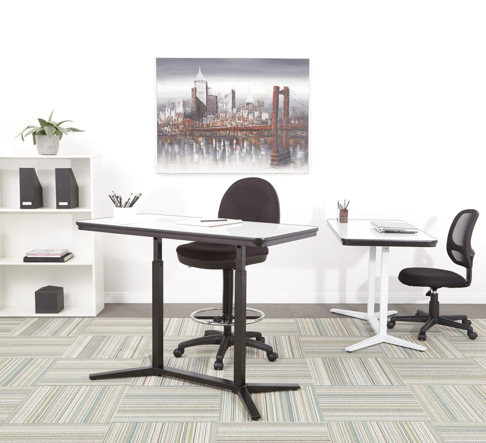 Have more fun at work with a dry erase board standing desk. Perfect for impromptu doodling during the work day!