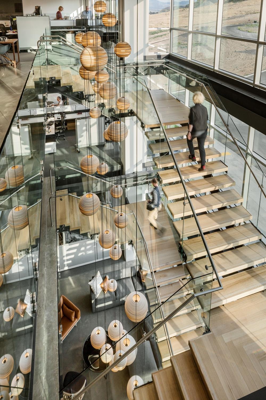 The Ancestry office in Salt Lake City, UT incorporates multiple biophilic design elements. Image Source: Officelovin - @officestarprod