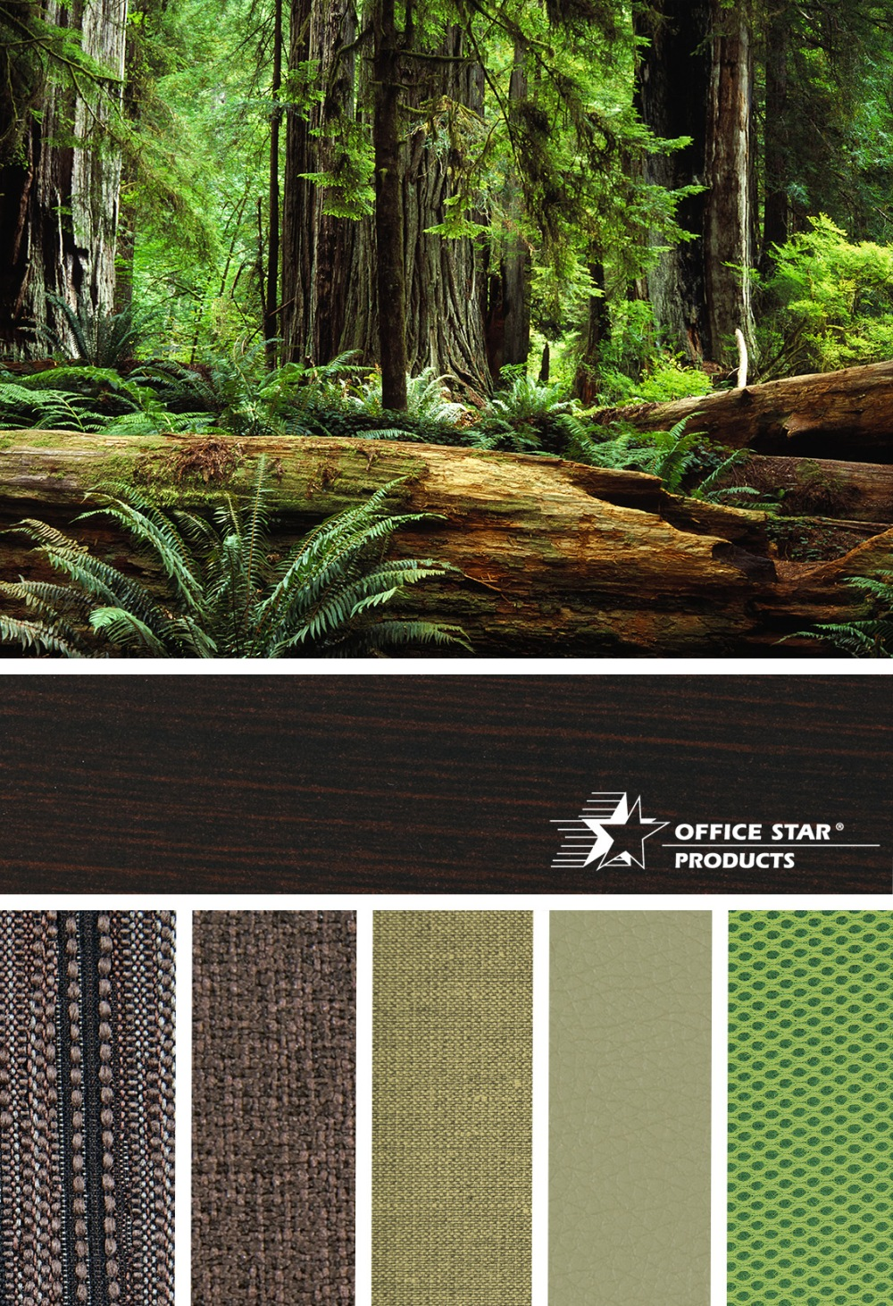 Take inspiration from the California Redwoods with a selection of rich earthy tones from our Custom Fabric Program. @OfficeStarProd