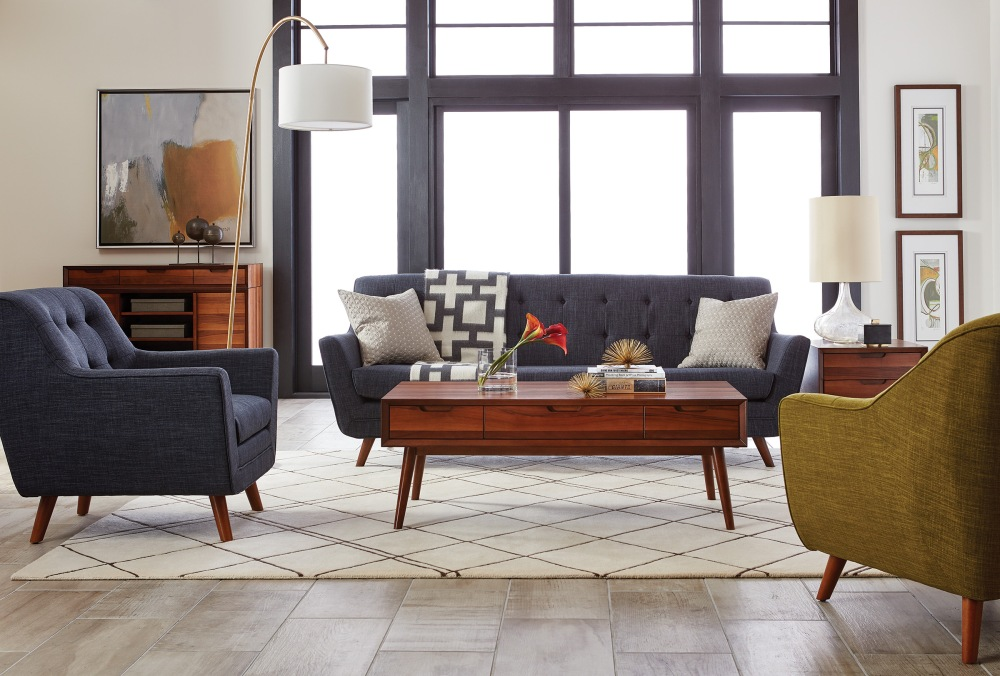 The newest way to bring mid-century modern appeal into your home is with the Skylark Collection by Curia & Co.
