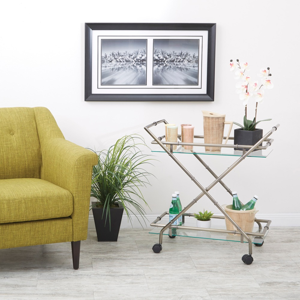 No mid-century style modern home would be complete without a bar cart. This 1950's & 60's staple of home entertainment has quickly become a must have for the 21st century home.